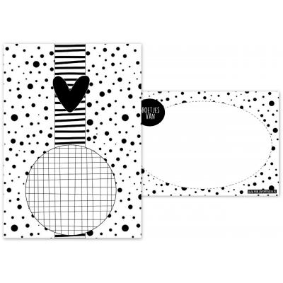 140.Kaart A6 met afbeelding voor een spiegel, magneet.