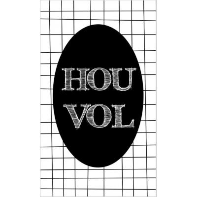 27.Kaartje met tekst ''Hou vol'' 5 bij 8.5 cm.