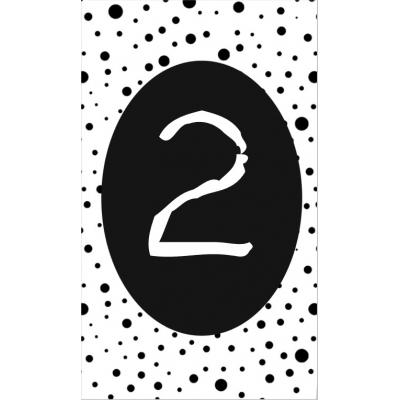 3.klein kaartje met cijfer 2.