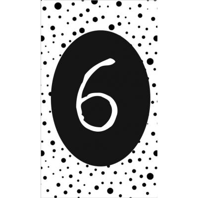 7.klein kaartje met cijfer 6.