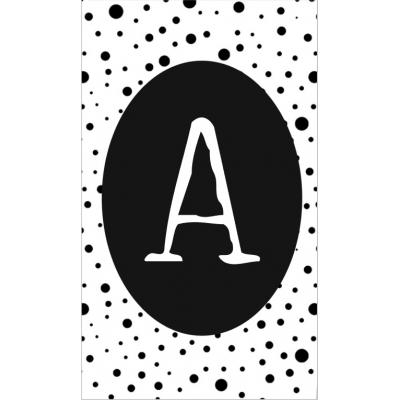 11.klein kaartje met letter A.