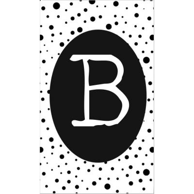 12.klein kaartje met letter B.