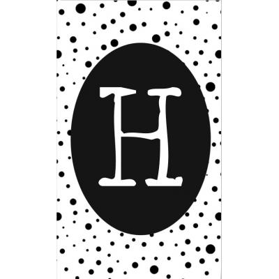 18.klein kaartje met letter H.