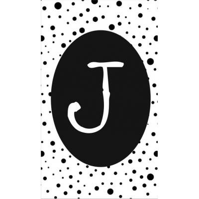20.klein kaartje met letter J.