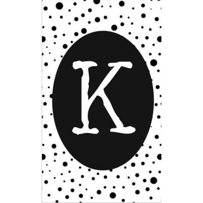 21.klein kaartje met letter K.