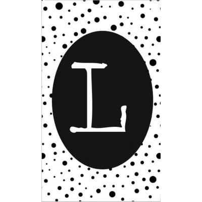 22.klein kaartje met letter L.