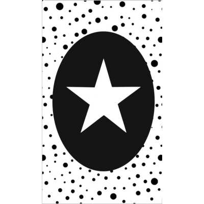 39.klein kaartje met afbeelding ster.