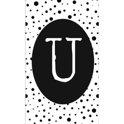 31.klein kaartje met letter U.