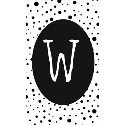 33.klein kaartje met letter W.