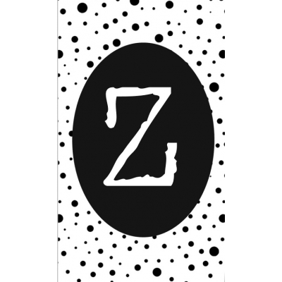 36.klein kaartje met letter Z.