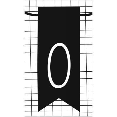 1.klein kaartje met cijfer 0
