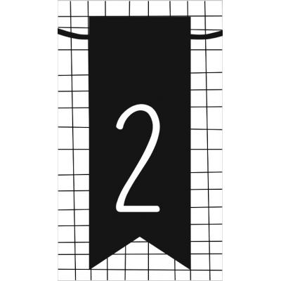3.klein kaartje met cijfer 2