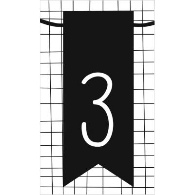 4.klein kaartje met cijfer 3