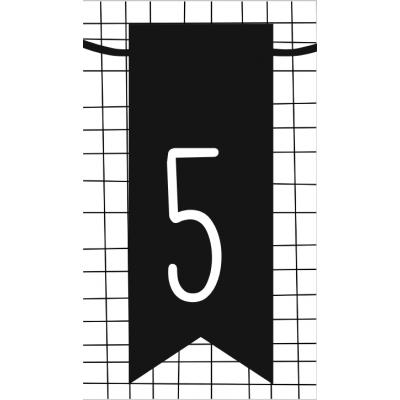6.klein kaartje met cijfer 5