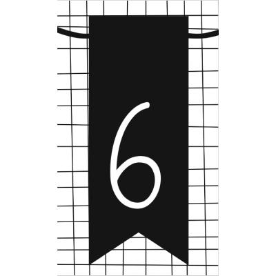 7.klein kaartje met cijfer 6
