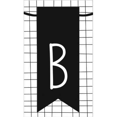 12.klein kaartje met letter B