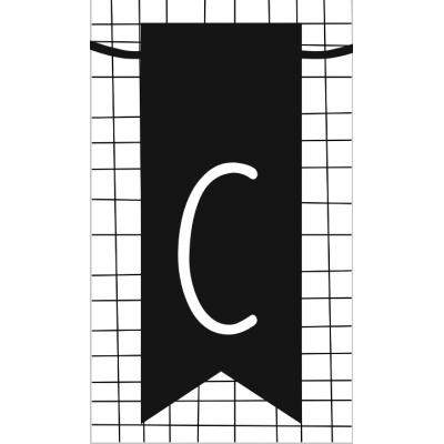 13.klein kaartje met letter C