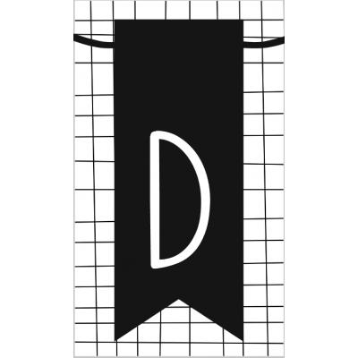14.klein kaartje met letter D