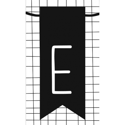 15.klein kaartje met letter E