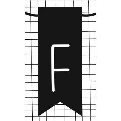 16.klein kaartje met letter F