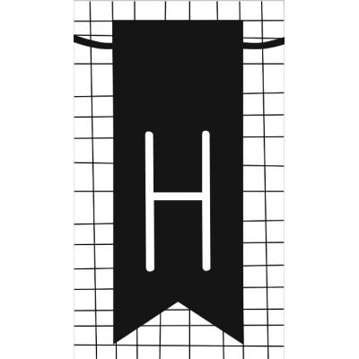 18.klein kaartje met letter H