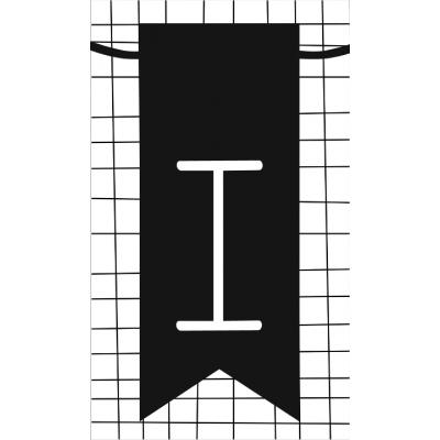19.klein kaartje met letter I