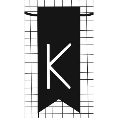 21.klein kaartje met letter K