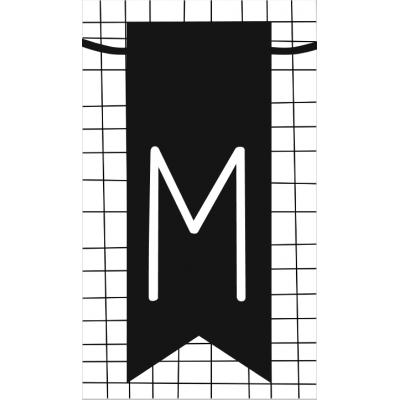 23.klein kaartje met letter M