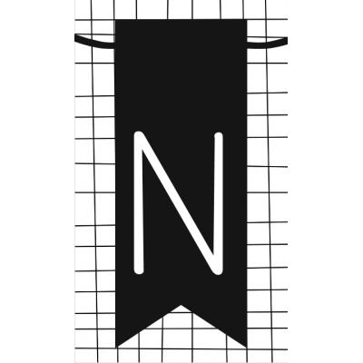 24.klein kaartje met letter N