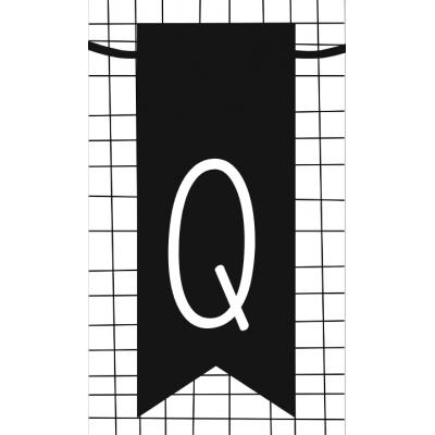 27.klein kaartje met letter Q