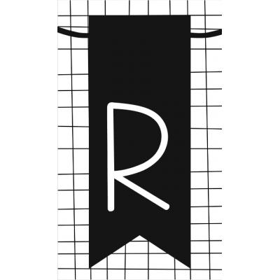 28.klein kaartje met letter R