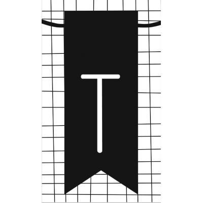 30.klein kaartje met letter T