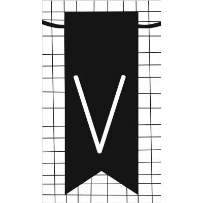 32.klein kaartje met letter V