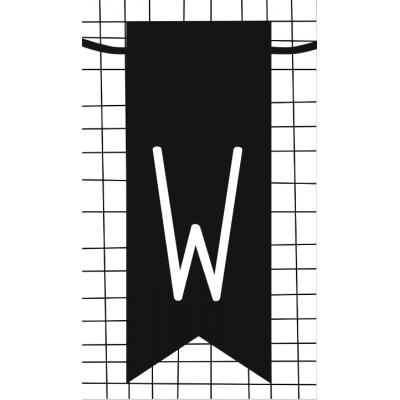 33.klein kaartje met letter W