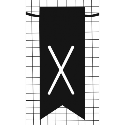 34.klein kaartje met letter X